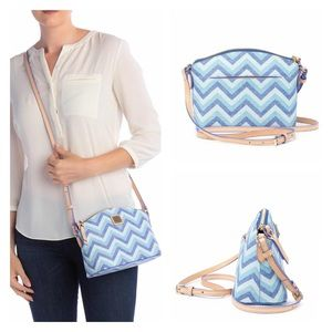 DOONEY BOURKE Suki Blue Chevron Crossbody Bag NWT